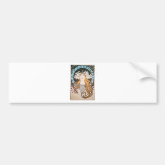 Mucha Sarah Bernhardt Vintage Art Nouveau Bumper Sticker