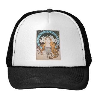 Mucha Sarah Bernhardt Vintage Art Nouveau Trucker Hat