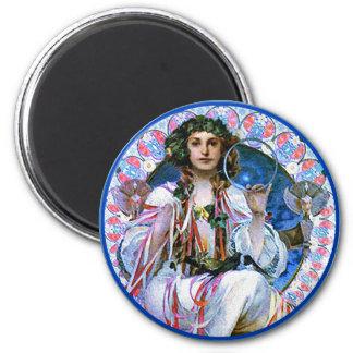 Mucha - Slavia - Secession 2 Inch Round Magnet
