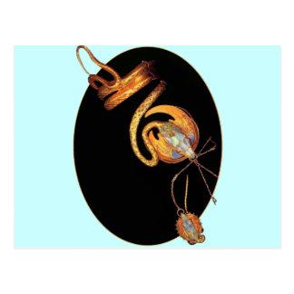 mucha snake jewelry arm bracelet design art deco postcard