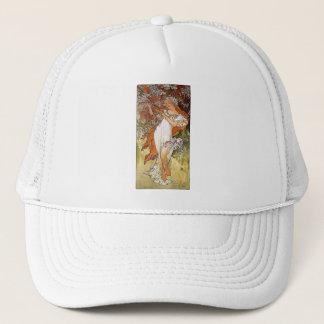 Mucha Spring blond lady white dress pretty Trucker Hat