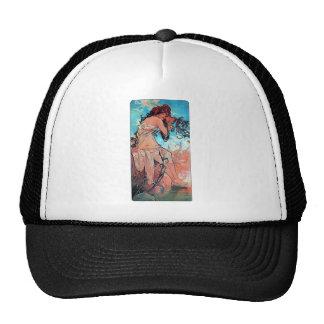 Mucha Summer lady woman long dress Trucker Hat