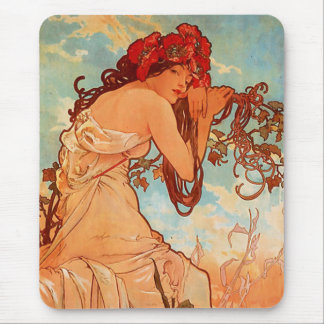 Mucha Summer Mouse Pad