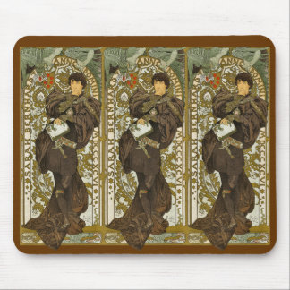 Mucha - Theater - Lorenzaccio - Art Nouveau Mouse Pad