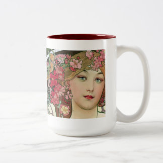 Mucha Two-Tone Coffee Mug