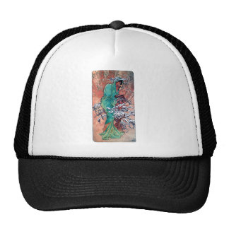 Mucha Winter art nouveau lady sparrows birds Trucker Hat