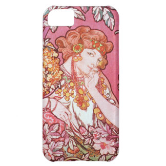 Mucha Woman among the Flowers iPhone 5 Case