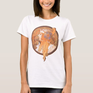 Mucha woman head medalion portrait cameo T-Shirt