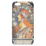 Mucha Zodiac Woman Art Deco Vintage Art Lady Case For iPhone 5C