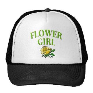 muchacha de flor subió gorro