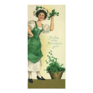 Muchacha del día de St Patrick del vintage, Lonas Publicitarias