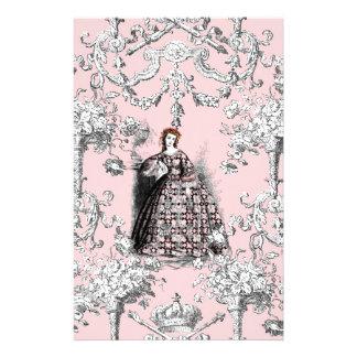 Muchacha del Victorian en el rosa de Dauphine Personalized Stationery