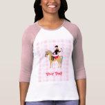 Muchacha ecuestre linda camisetas