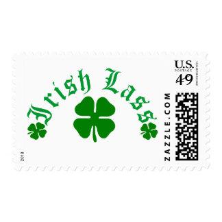 Muchacha irlandesa timbre postal