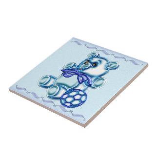 Muchacho #1 azulejo cuadrado pequeño