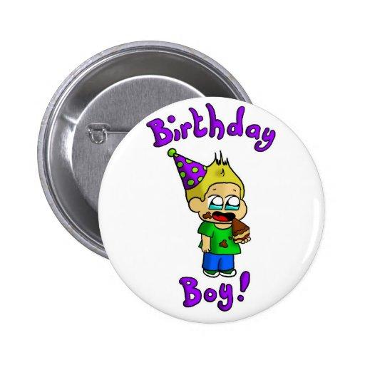 Muchacho 1 del cumpleaños pin