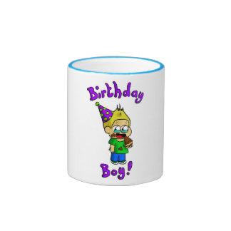 Muchacho 1 del cumpleaños taza a dos colores