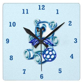 Muchacho #1 reloj cuadrado