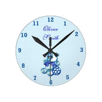 Muchacho #1 reloj redondo mediano