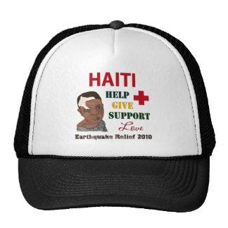 Muchacho 2010 del alivio del terremoto de Haití Gorro De Camionero