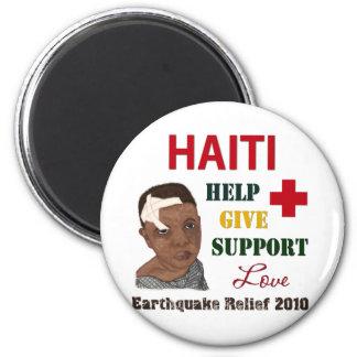 Muchacho 2010 del alivio del terremoto de Haití Imanes Para Frigoríficos