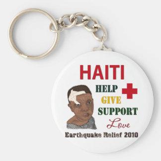 Muchacho 2010 del alivio del terremoto de Haití Llaveros Personalizados