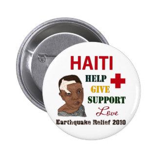 Muchacho 2010 del alivio del terremoto de Haití Pin
