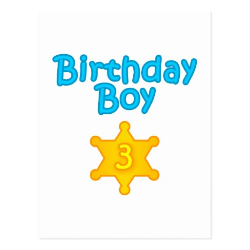 Muchacho 3 del cumpleaños del sheriff postal