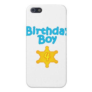 Muchacho 4 del cumpleaños del sheriff iPhone 5 fundas