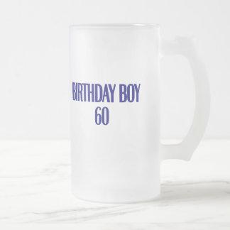 Muchacho 60 del cumpleaños taza de café