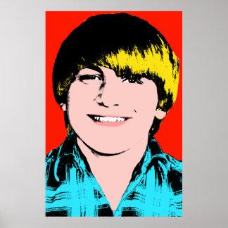 Muchacho adolescente terminado del arte pop poster