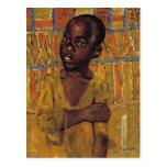 Muchacho africano tarjeta postal