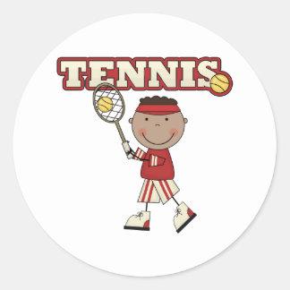 Muchacho afroamericano del tenis pegatinas