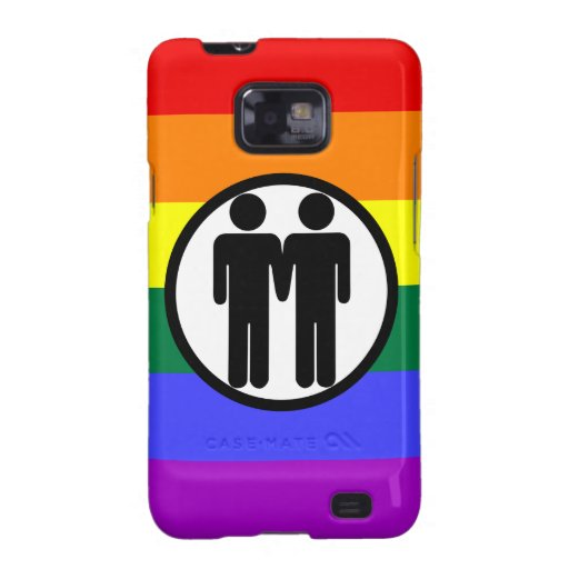 Muchacho + Arco iris del muchacho Samsung Galaxy S2 Carcasas