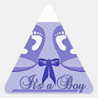 Muchacho azul de la paz del amor de madre de la pegatina trianguladas personalizadas