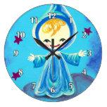 Muchacho azul del duende reloj