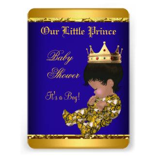 Muchacho azul del oro del príncipe fiesta de bienv
