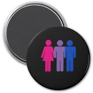 Muchacho bisexual imán redondo 7 cm