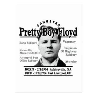 Muchacho bonito Floyd del gángster Postales
