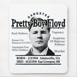 Muchacho bonito Floyd del gángster Tapetes De Ratón