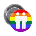 Muchacho + Botón del arco iris del muchacho Pin