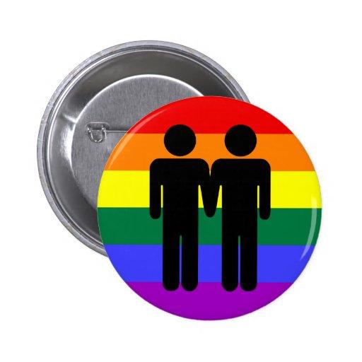 Muchacho + Botón del arco iris del muchacho Pins