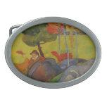 Muchacho bretón de Paul Gauguin- en un paisaje con Hebillas Cinturon