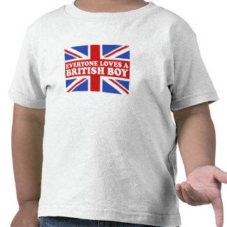 Muchacho británico camisetas