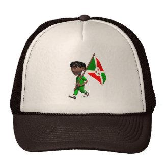 Muchacho burundés gorra