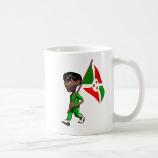 Muchacho burundés tazas