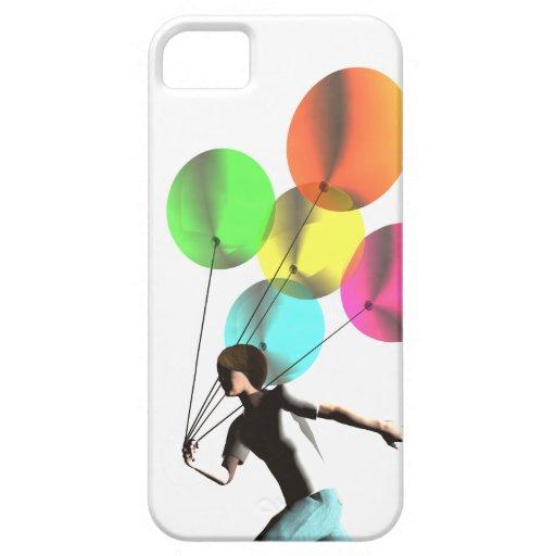 Muchacho con los globos en un caso del iphone 5 iPhone 5 Case-Mate cobertura