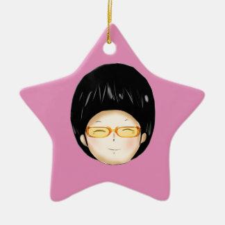 Muchacho con los sunglass ornamentos de navidad
