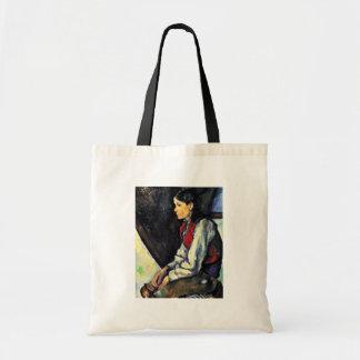 Muchacho con un chaleco rojo de Paul Cézanne Bolsa