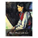 Muchacho con un chaleco rojo de Paul Cézanne Flyer Personalizado